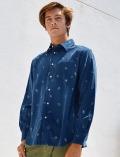 【UNISEX】刺繍コーデュロイシャツ