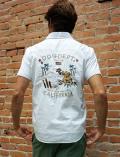 【UNISEX】刺繍入りシャツ 半袖