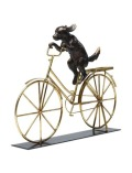 【GOODS】Deco Object Dog With Bicycle