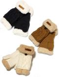 【GOODS】women'sケーブルフード手袋
