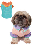 《期間限定》【DOG WEAR】Wカラー フリルTシャツ