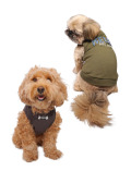 【DOG WEAR】デニムアップリロゴノースリーブ