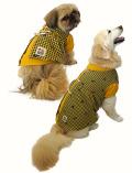 【DOG WEAR】犬柄ギンガムペア ワンピース
