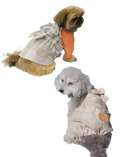 【DOG WEAR】ウール調チェックサロペット