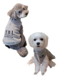 【DOG WEAR】ニット裏毛スタンドジップ ノースリーブ