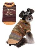 《期間限定アウトレット》【DOG WEAR】ボーダーフェイクTシャツ