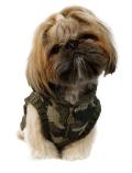 【DOG WEAR】カモフラモコモコハーフジップ