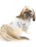【まとめ割引対象】【DOG WEAR】HAPPY 刺繍T