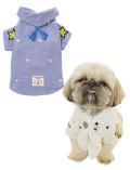 《期間限定アウトレット》【DOG WEAR】スター&ドッグ刺繍ガーゼバンダナシャツ