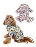 【DOG WEAR】スーパーストレッチ アメコミロンパース