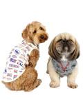 【DOG WEAR】総柄ロゴ 伸縮ウェア