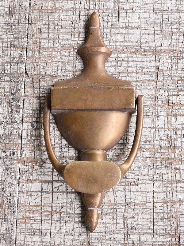 イギリス アンティーク 真鍮製ドアノッカー 10013
