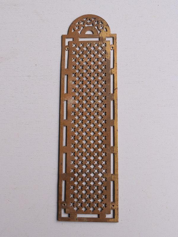 イギリス アンティーク 真鍮フィンガープレート ドアプレート 10108