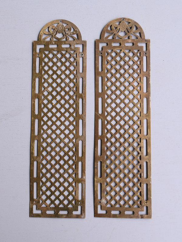 イギリス アンティーク 真鍮フィンガープレート ドアプレート×2  10110