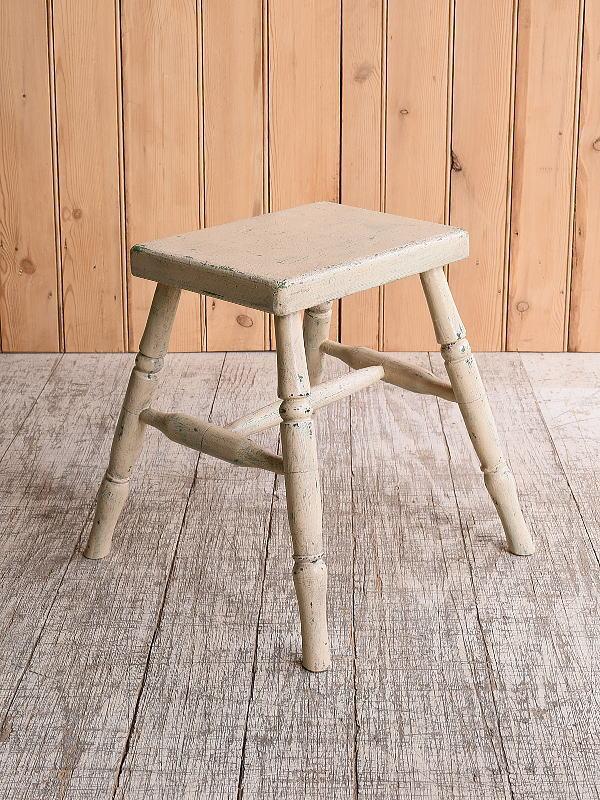 イギリス アンティーク家具 木製 スツール  椅子 10159