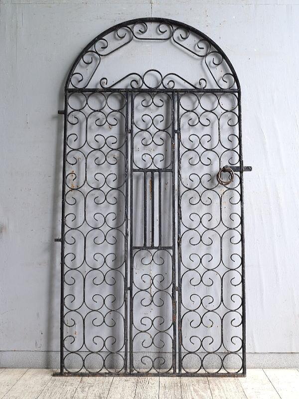 イギリスアンティーク アイアンフェンス ゲート柵 ガーデニング 10224