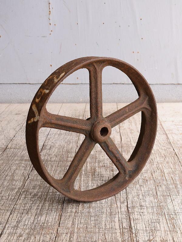 イギリス アンティーク 鉄製 車輪 10254