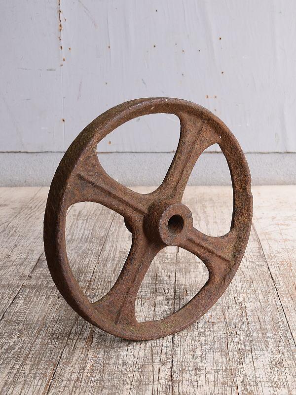 イギリス アンティーク 鉄製 車輪 10255