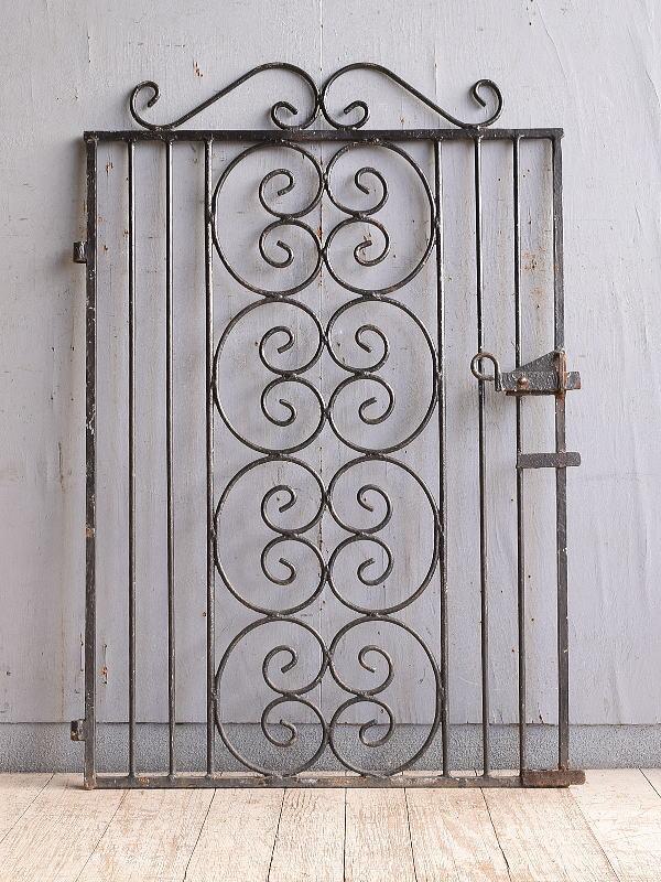 イギリス アンティーク アイアンフェンス ゲート柵 10271