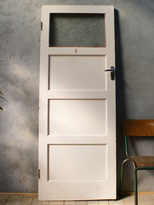 イギリス アンティーク ガラス入り木製ドア 扉 ディスプレイ 建具 6063