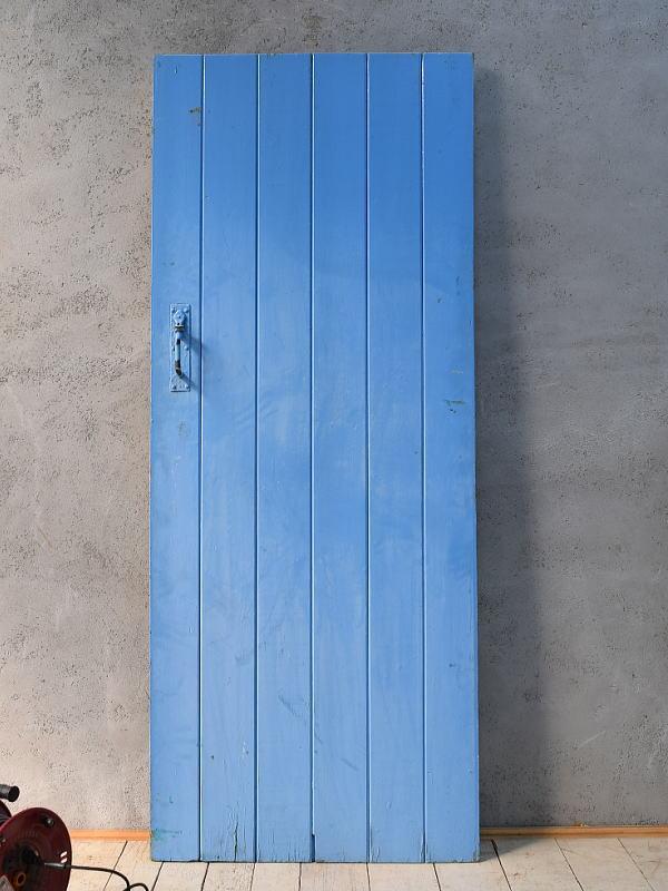 イギリス アンティーク ガラス入り木製ドア 扉 ディスプレイ 建具 6821