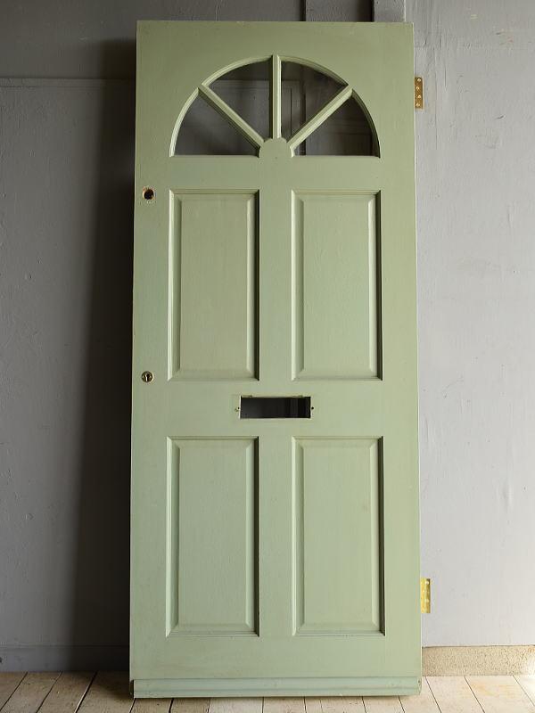 イギリス アンティーク ガラス入り木製ドア 扉 建具 7199