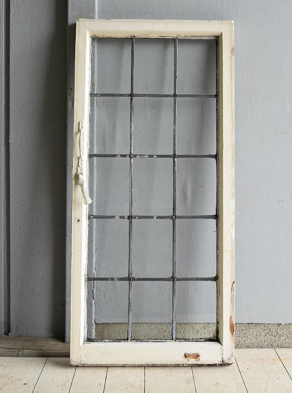 イギリス アンティーク 格子窓 無色透明 7201