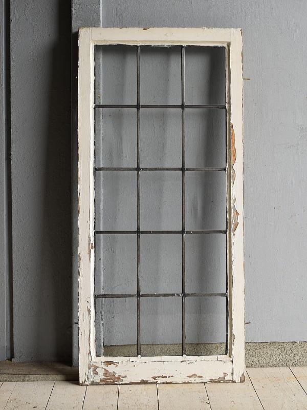 イギリス アンティーク 格子窓 窓 無色透明 7209