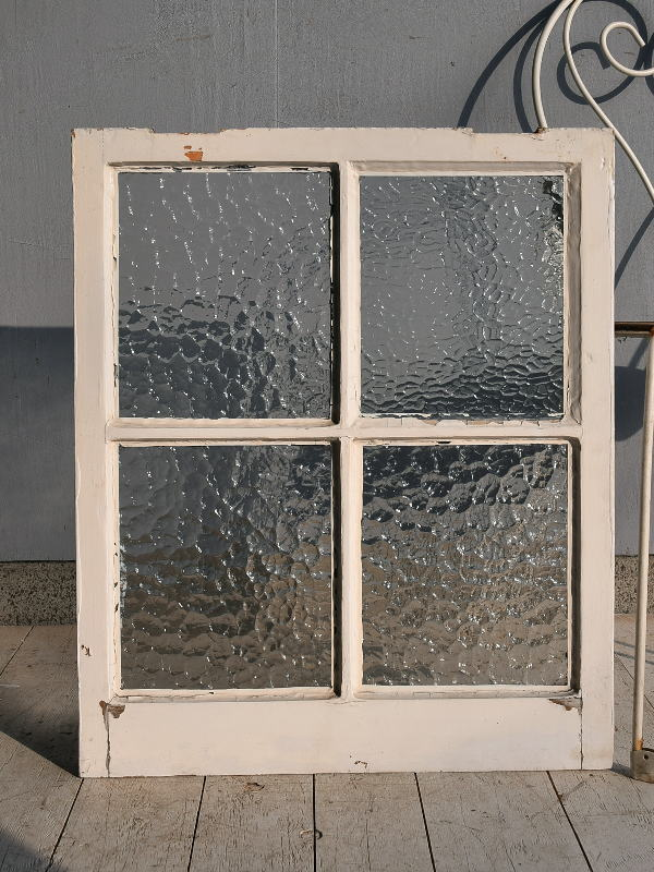 イギリス アンティーク 格子窓 無色透明 7543