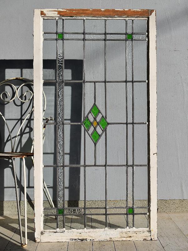 イギリス アンティーク ステンドグラス 窓 7600