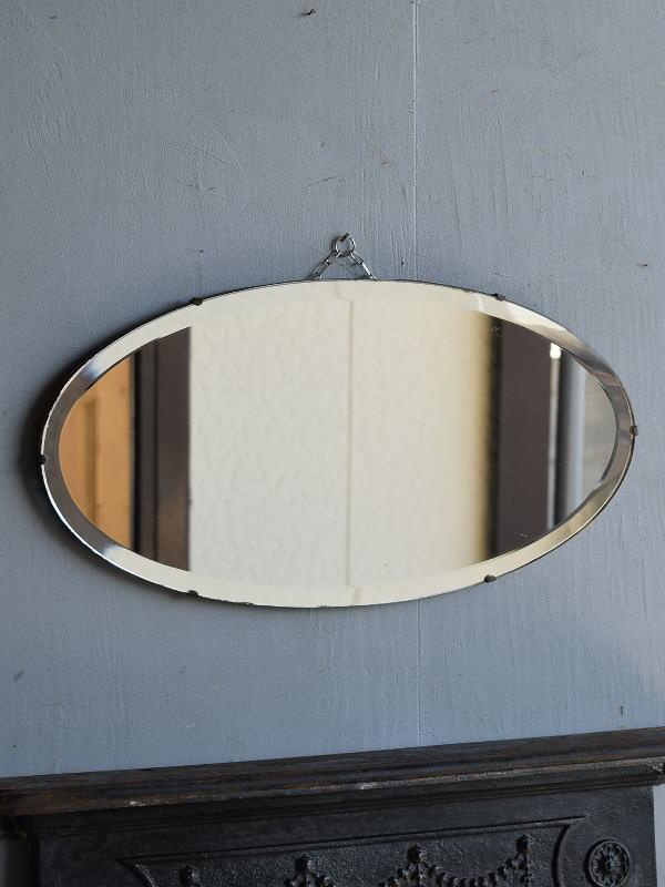 イギリス アンティーク  壁掛け ミラー 鏡 7623