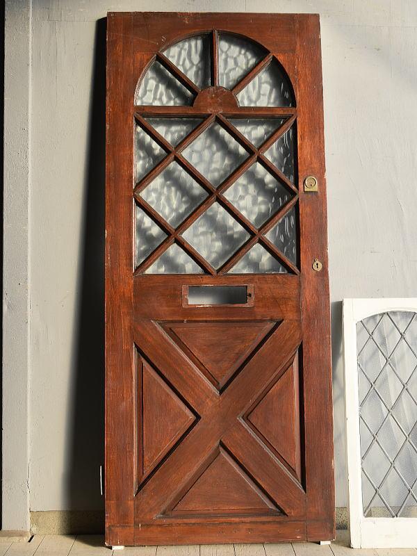 イギリス アンティーク ガラス ドア 扉 ディスプレイ 建具 764