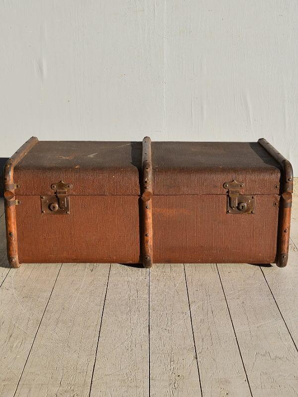 イギリス アンティーク スーツケース トランク ディスプレイ 旅行鞄 7654