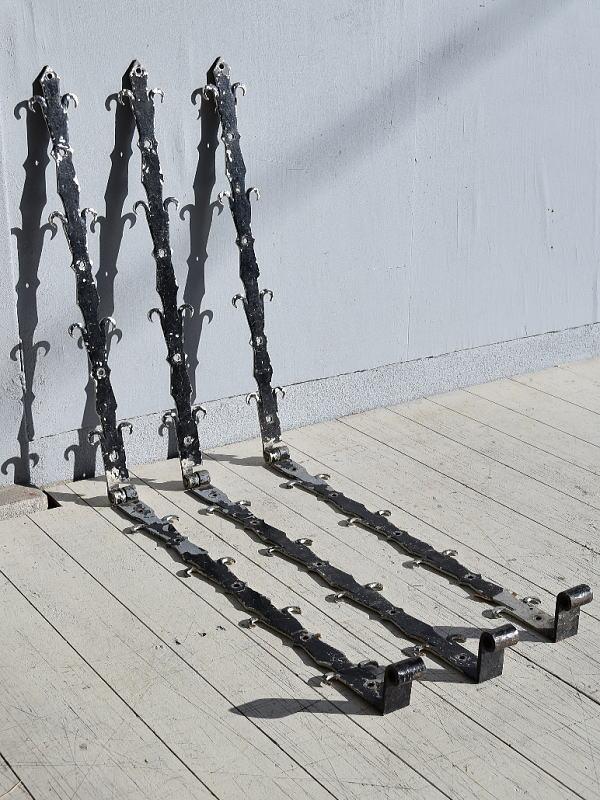 イギリス アンティーク 鉄製ヒンジ×3 建具金物 7787