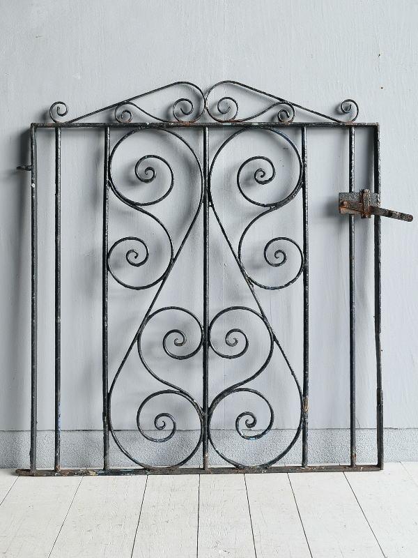 イギリス アンティーク アイアンフェンス ゲート柵 ガーデニング 7795