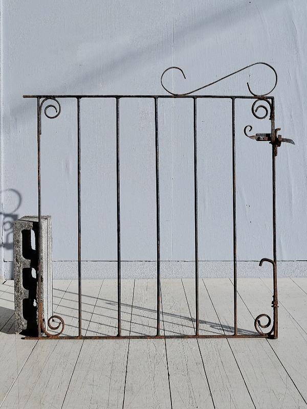 イギリス アンティーク アイアンフェンス ゲート柵 ガーデニング 7799