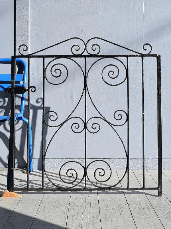 イギリス アンティーク アイアンフェンス ゲート柵 ガーデニング 7814