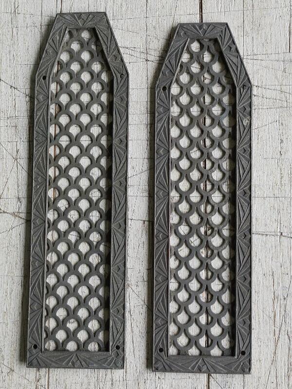 イギリス アンティーク 真鍮フィンガープレート ドアプレート 7829