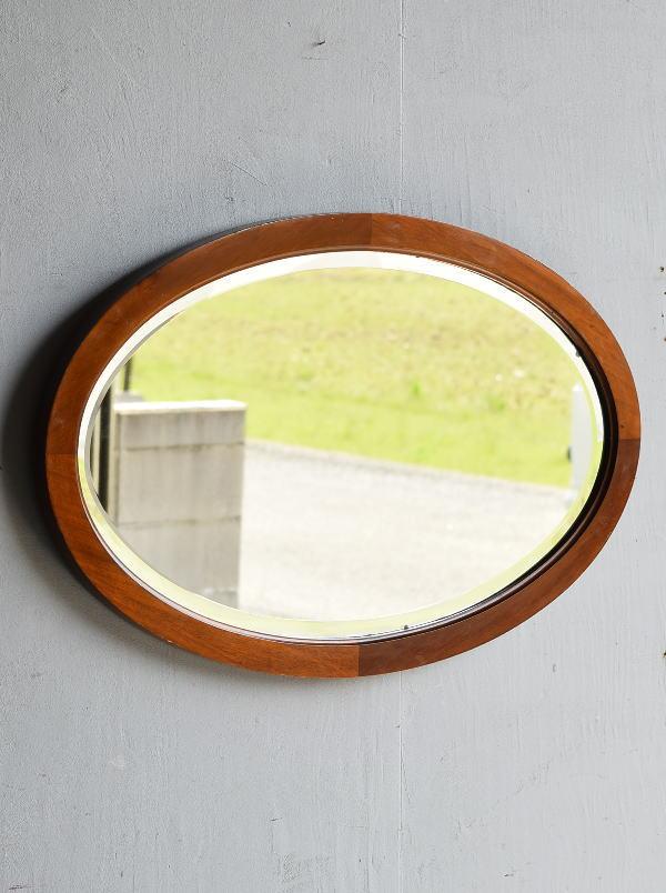イギリス アンティーク  木製枠 ミラー 鏡 7917