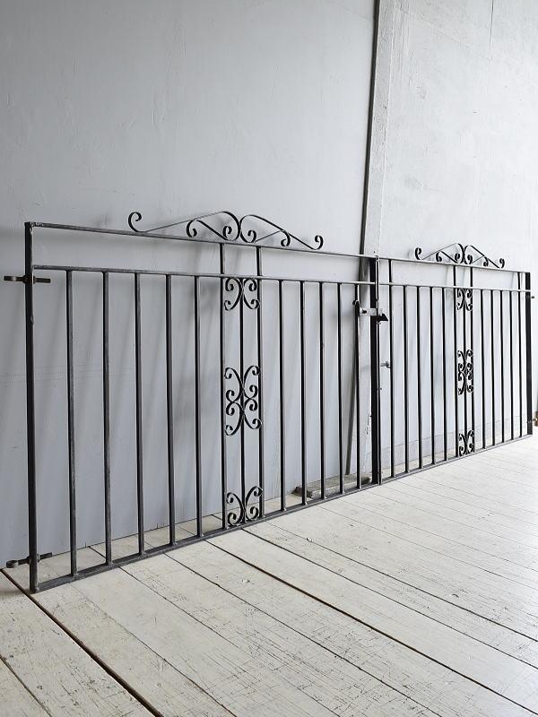 イギリス アンティーク アイアンフェンス ゲート柵 7931
