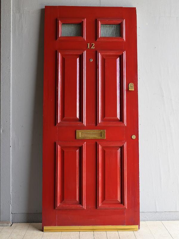 イギリス アンティーク ガラス ドア 扉 ディスプレイ 建具 7996