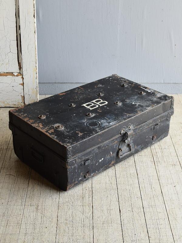 イギリス アンティーク 鉄製ボックス ディスプレイ 8054