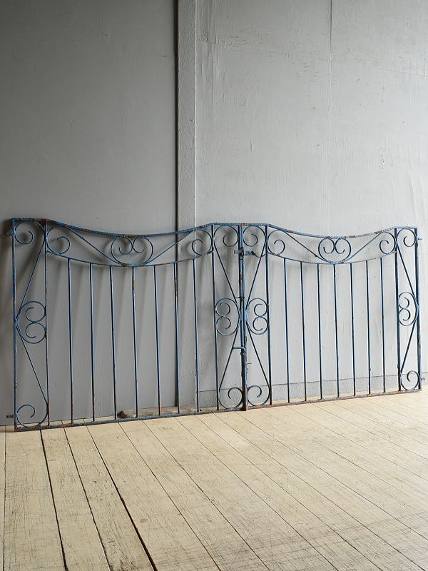 イギリス アンティーク アイアンフェンス ゲート柵 8063