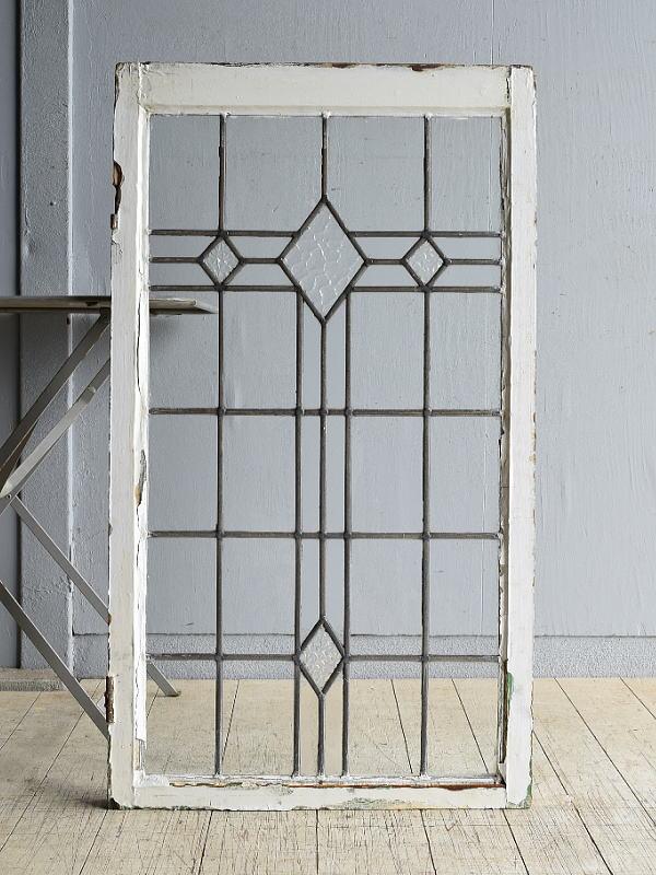 イギリス アンティーク 窓 無色透明 8148
