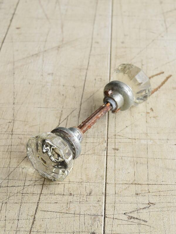 イギリス アンティーク ガラス製 ドアノブ 建具金物 握り玉 8215