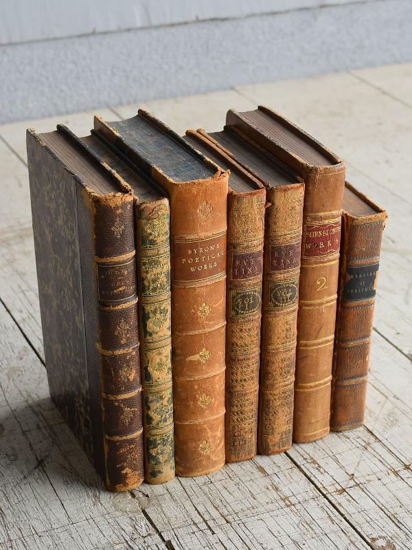 イギリス アンティーク ブック 本 洋書 7冊セット ディスプレイ 8274