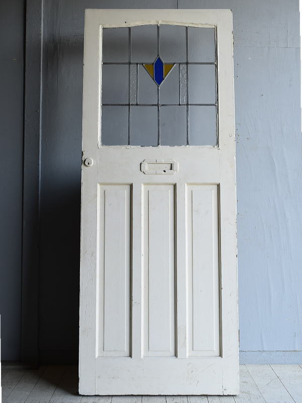 イギリス アンティーク ステンドグラス入りドア 扉 建具 8282