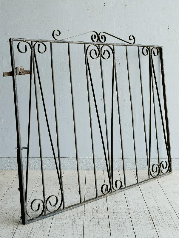 イギリス アンティーク アイアンフェンス ゲート柵 8316