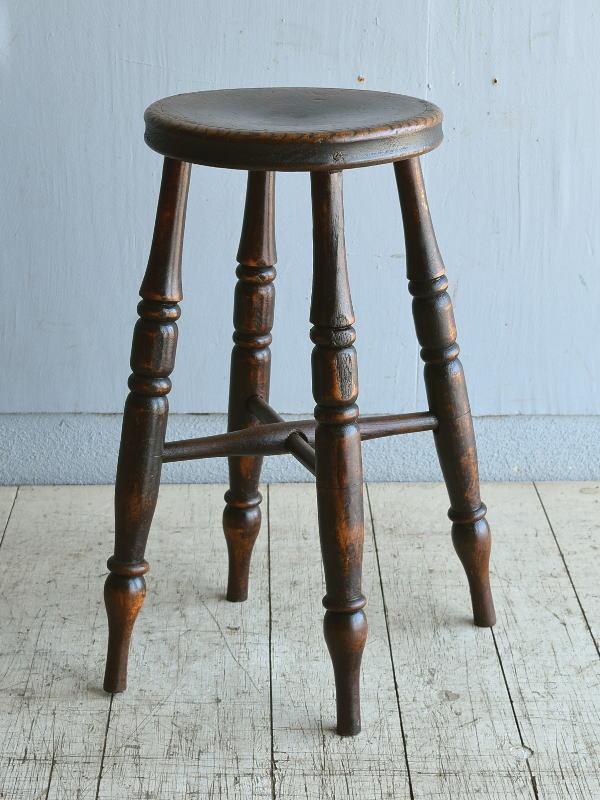 イギリス アンティーク 木製スツール 8385