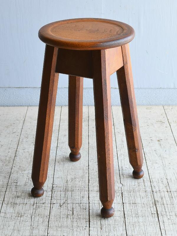 イギリス アンティーク 木製スツール 8386